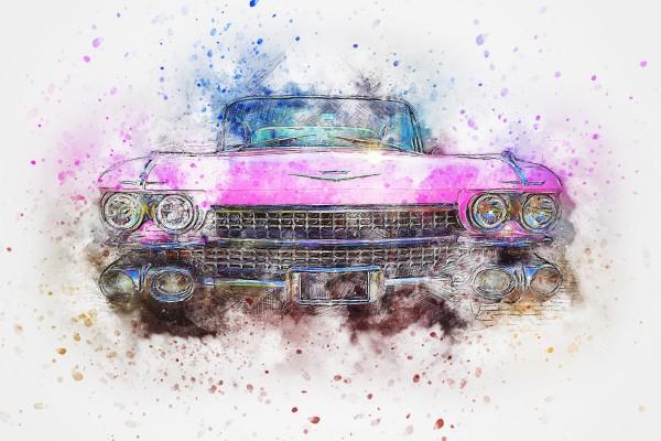 Bügelbild Car II