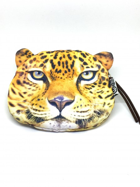 Geldbörse Geldbeutel Portemonaie Clutch Katze Tiger Leopard