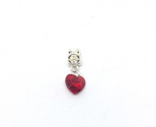 Kristallglas Bead Herz