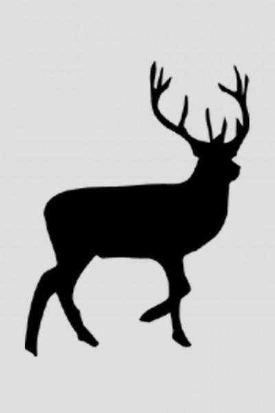 Mini Flockbügelbild Hirsch