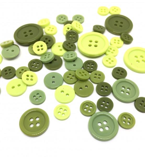 152 Knöpfe Größenmix Mix 2 Loch 4 Loch Kinderknöpfe Puppenknöpfe Waschknöpfe