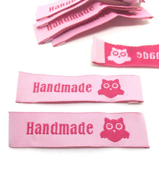 10 Hand Made Label Eule